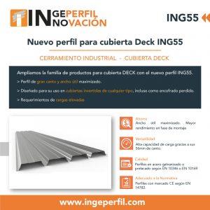 Nuevo perfil para cubierta DECK ING55
